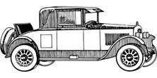 Auto retro szkic