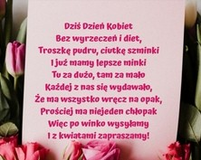 Kartka z różami na Dzień Kobiet