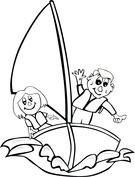 Dzieci na łódce