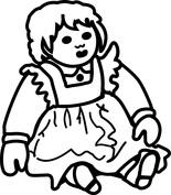 Lalka siedząca