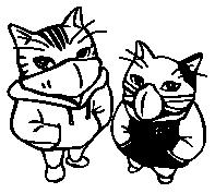Koty w maskach