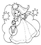 Dziewczynka aniołek