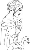Anime kobieta ze zwierzętami