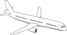 Samolot lądujący