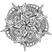 Mandala kwiat gwiazda