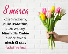 8 marca dzień radosny kartka