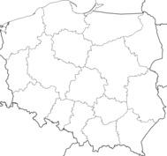 Mapa Polski Kolorowanki Granice Polski Szablon Do Druku