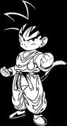 Anime wojownik czarny