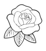 Róża szablon