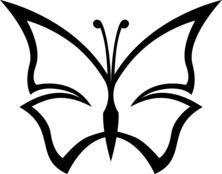 Motylek szablon