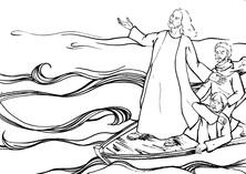 Jezus na łodzi