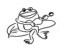 Żaba z gitarą