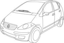 Mercedes szkic