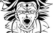 Anime twarz wojownika
