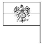 Flaga z orzełkiem