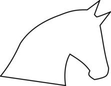 Głowa konia szablon