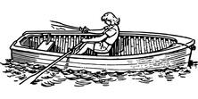 Samotny rejs łódką