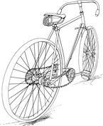 Rower od tyłu