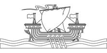 Statek wikingów szkic