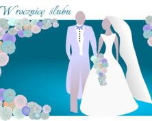 Elegancka kartka na rocznicę ślubu