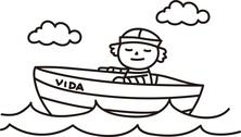 Marynarz na łódce
