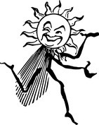 Biegnące słońce