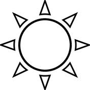 Słońce szablon
