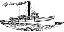 Statek na wzburzonym morzu