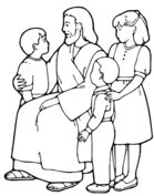 Jezus naucza dzieci