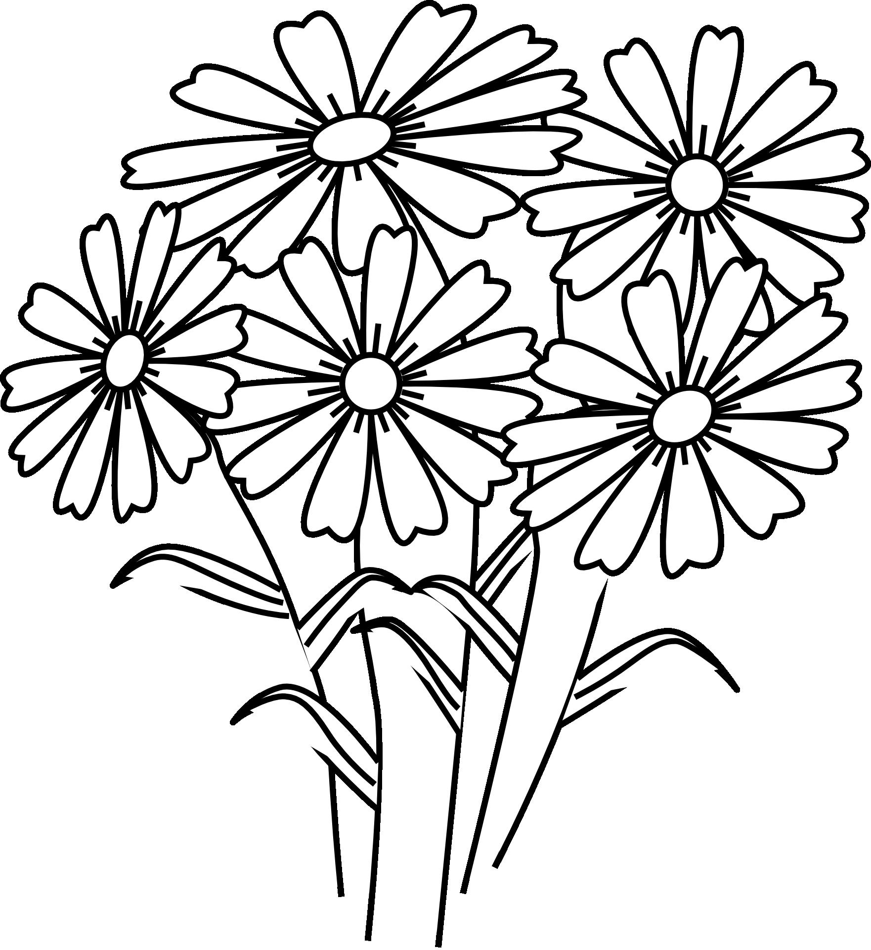 Kwiaty Wzor Kolorowanka Do Druku