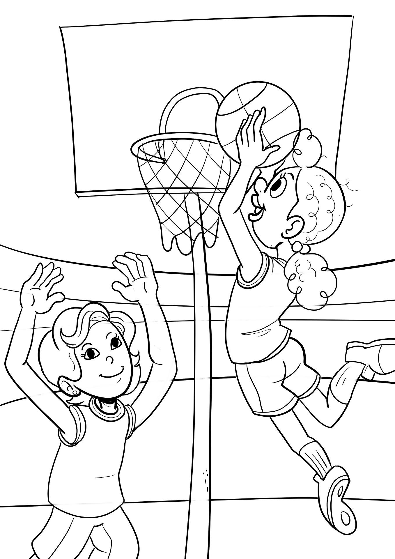 Koszykowka Dzieci Kolorowanka Do Druku