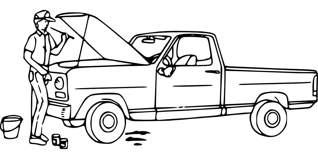 Auto Mechanik Kolorowanka Do Druku