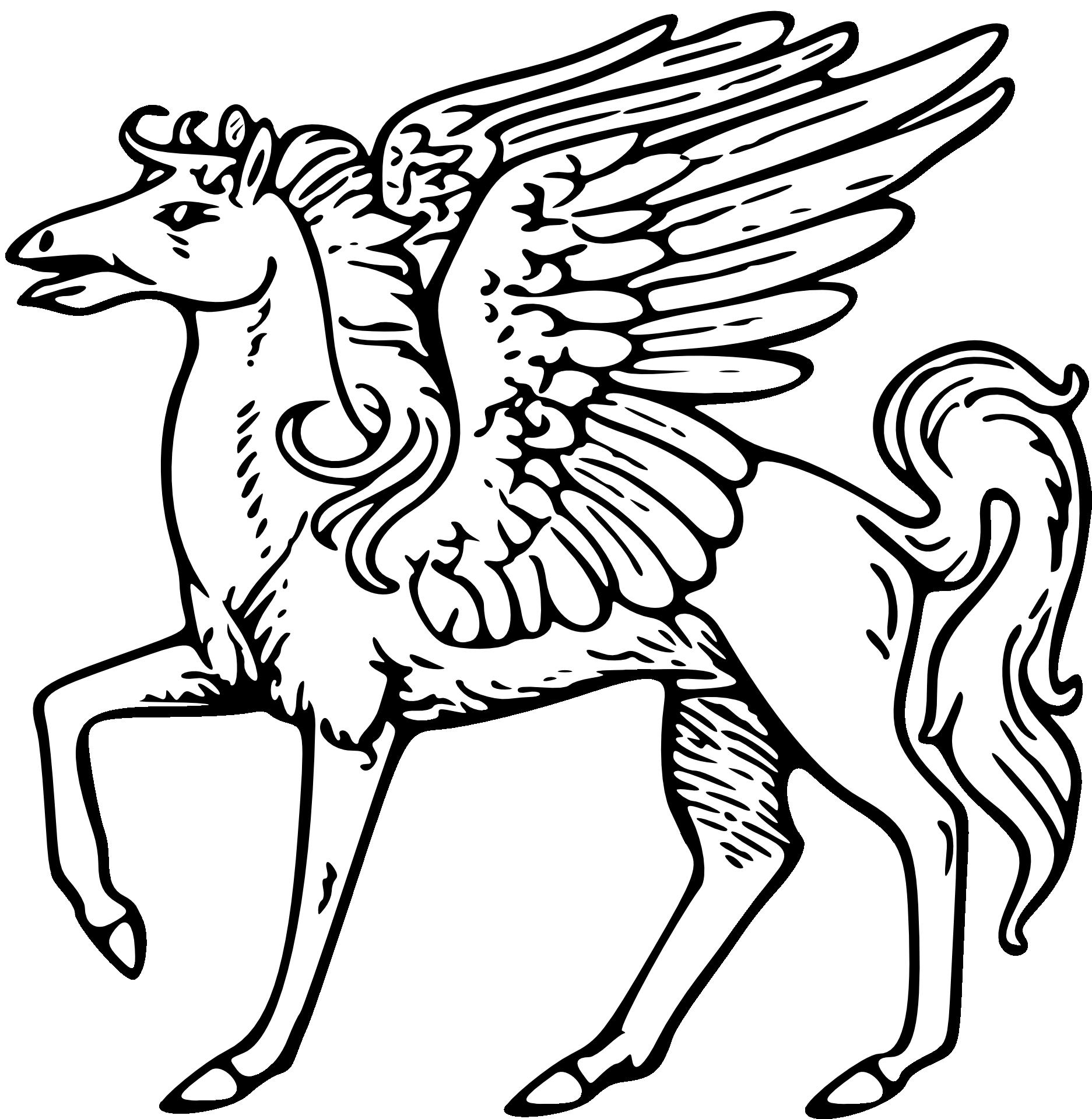 Kon Ze Skrzydlami Pegasus Kolorowanka Do Druku