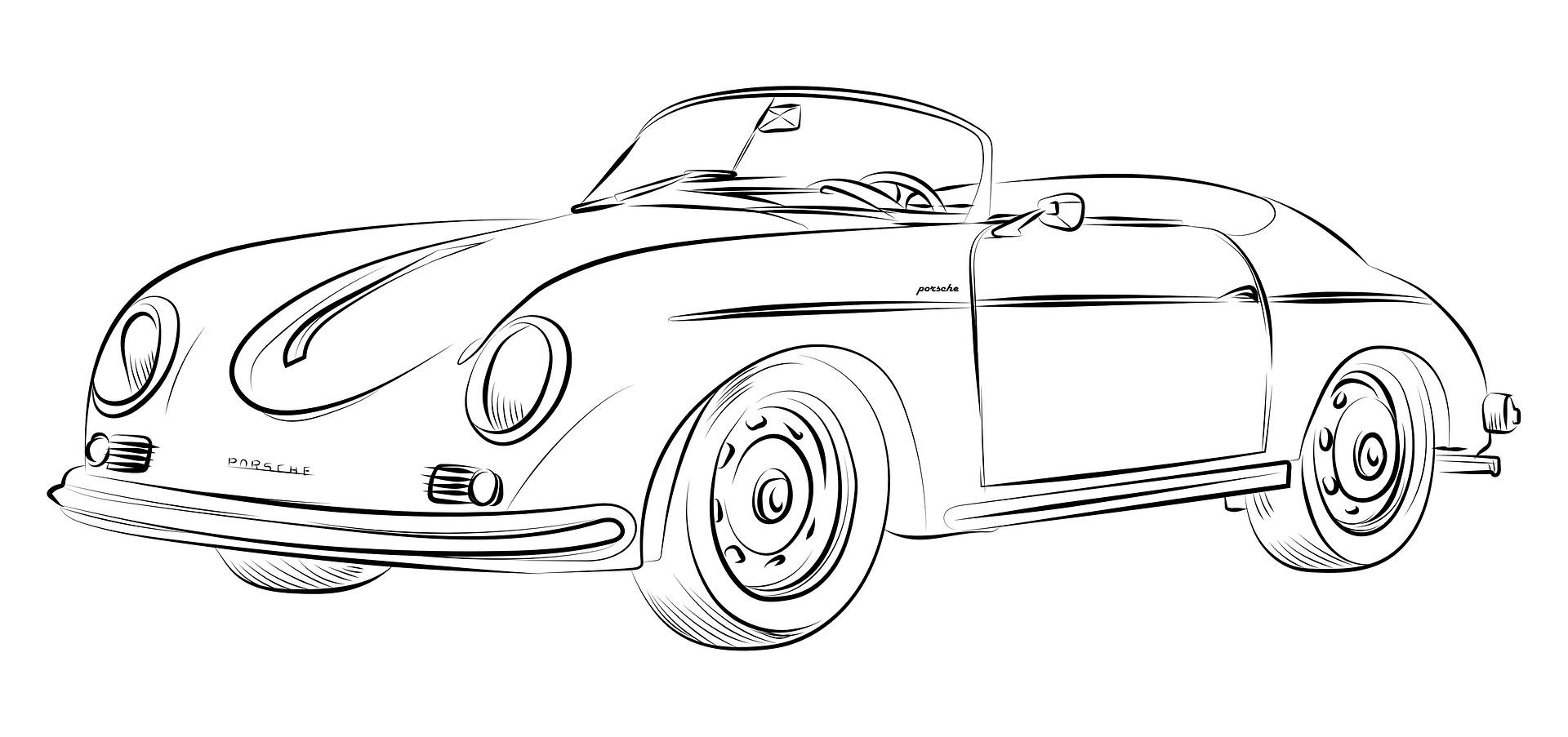 Porsche Kolorowanka Do Druku