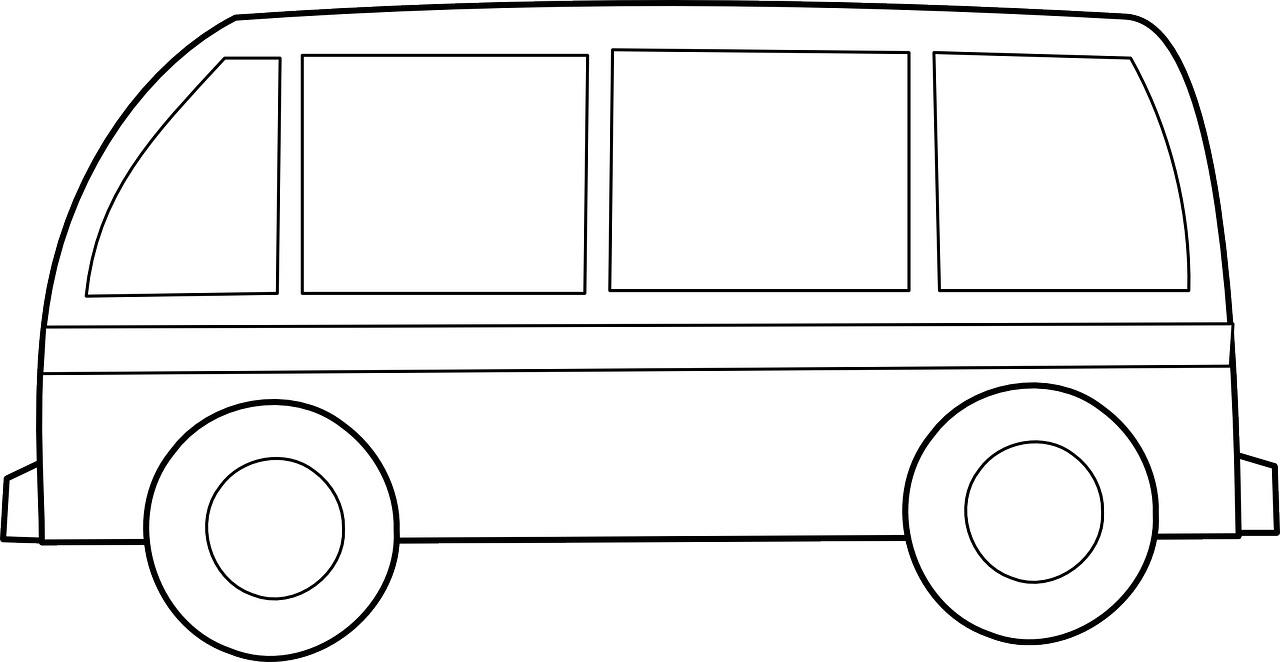 Autobus Szablon Kolorowanka Do Druku